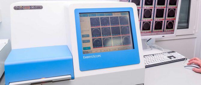 Imagen: Embryons sur un embryoscope