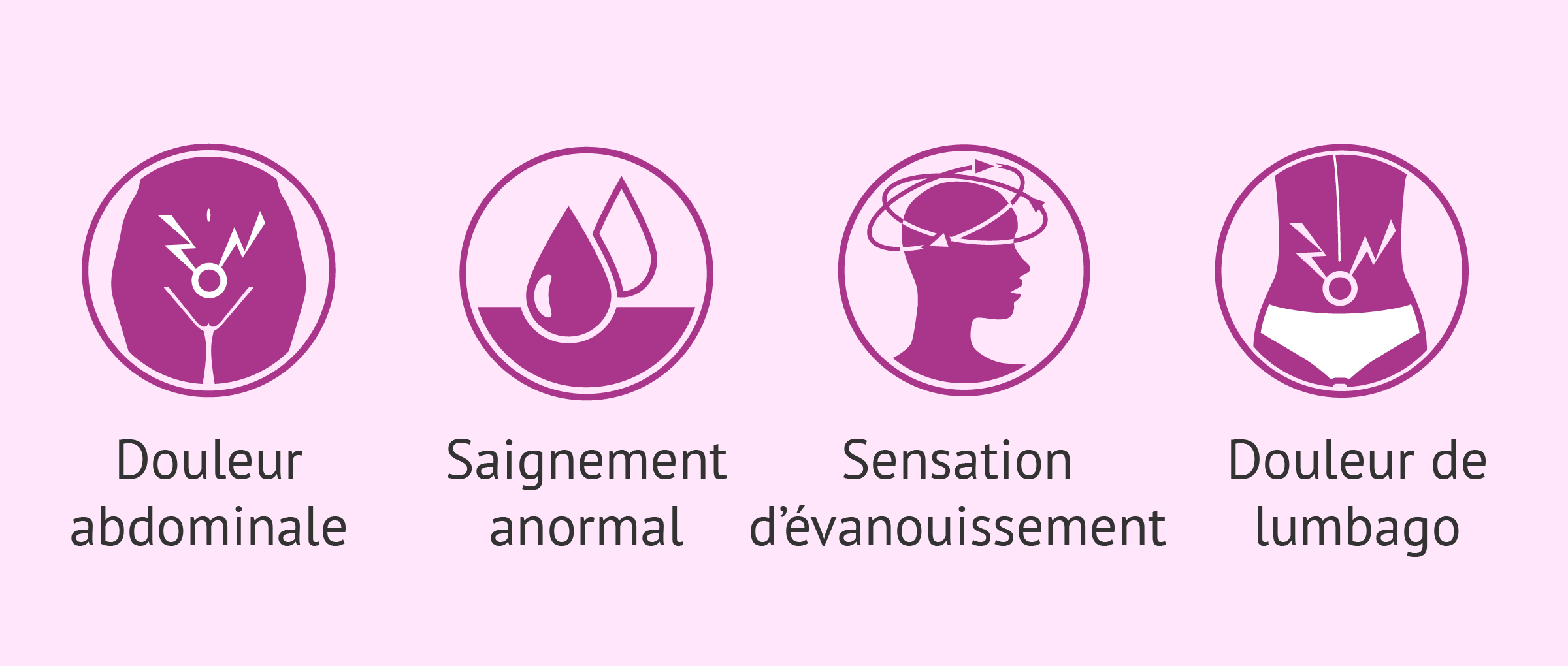 Symptômes de la grossesse extra-utérine