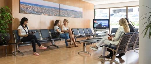 Barcelona IVF salle d'attente installations