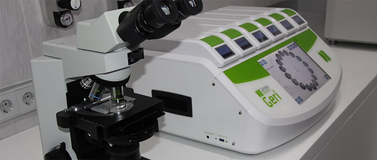 Fertility Madrid Microscope et incubateur GERI