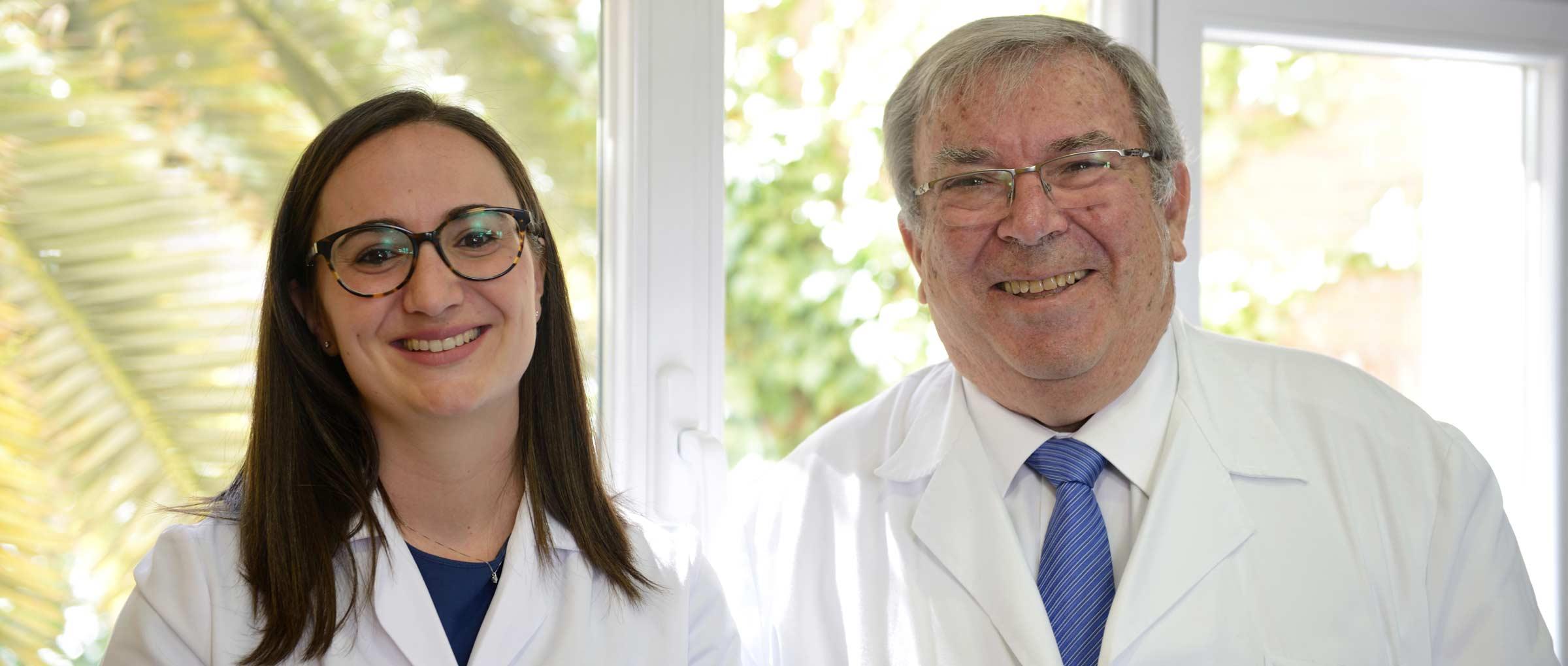 Imagen: Le Dr Pedro Caballero avec le Dr Laura Garcia
