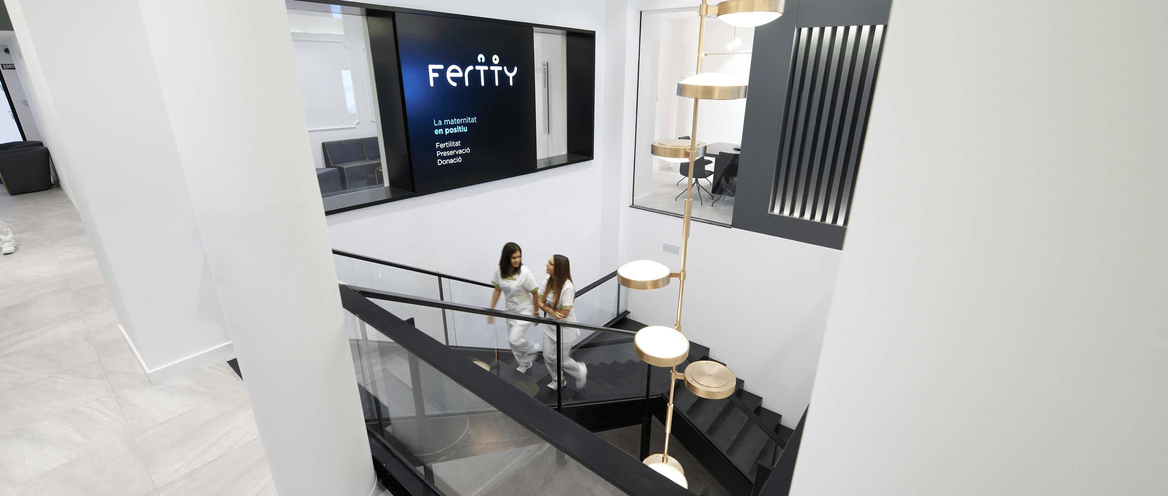 Installations de la clinique de fertilité Fertty à Barcelone